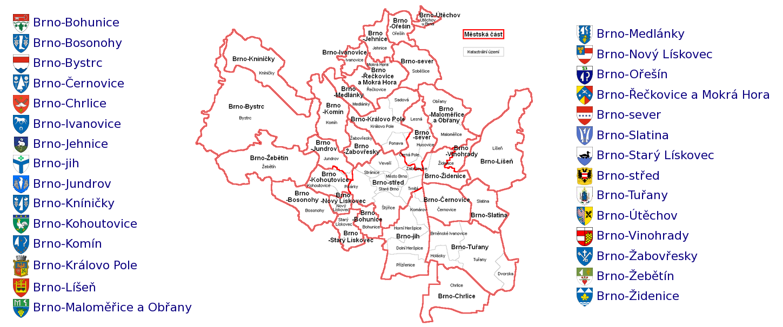 Brno mapa