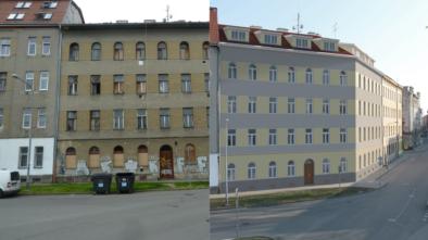 vizualizace rekonstrukce domu na Podnásepní